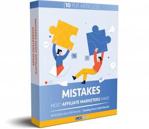 Mistakes Most Affiliate Marketers Make - 10 PLR Articles