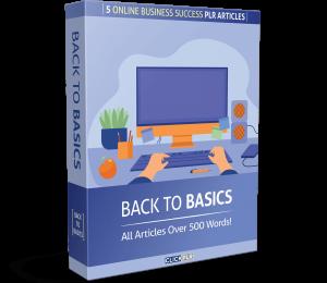 back to basics - 5 online business success plr articles