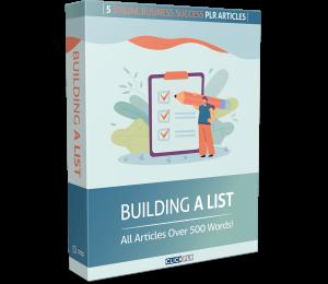 building a list - 5 online business success plr articles