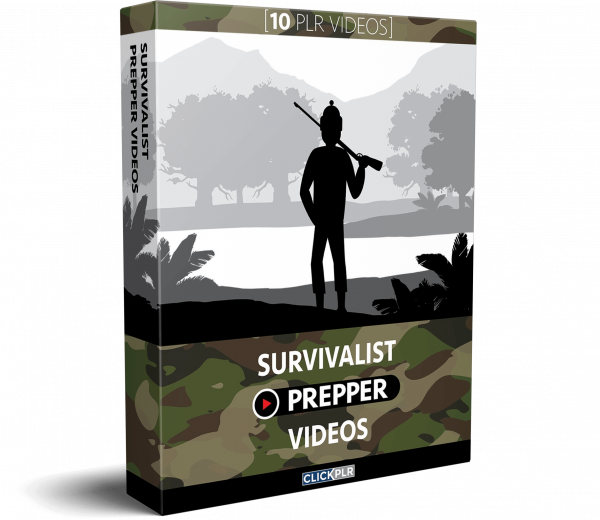 Survivalist Prepper Videos - 10 PLR Videos