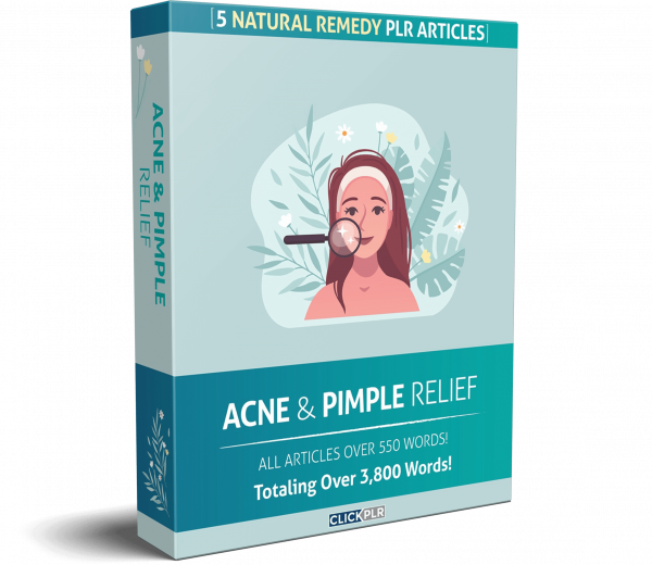 acne and pimple relief - 5 Natural Remedy PLR Articles